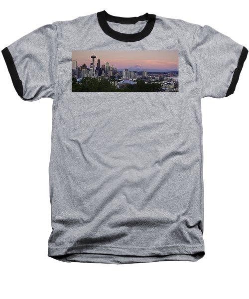 Seattle Sunset - Kerry Park Baseball T-Shirt
