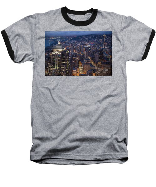 Seattle Urban Details Baseball T-Shirt by Mike Reid