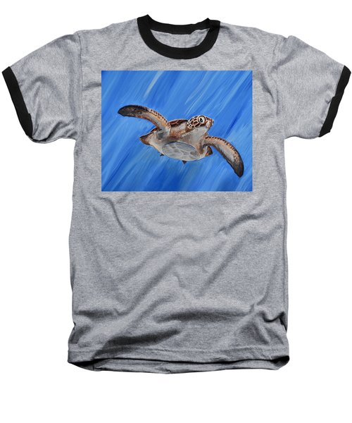 Seaturtle Baseball T-Shirt by Steve Ozment