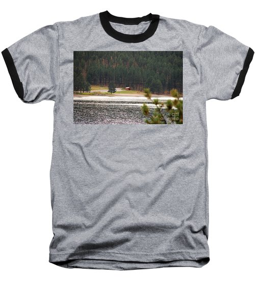 Baseball T-Shirt featuring the photograph Secluded Cabin by Mary Carol Story