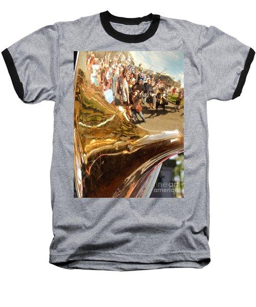 Second Line Tuba Baseball T-Shirt