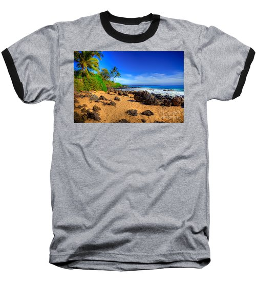 Secret Beach Maui Baseball T-Shirt