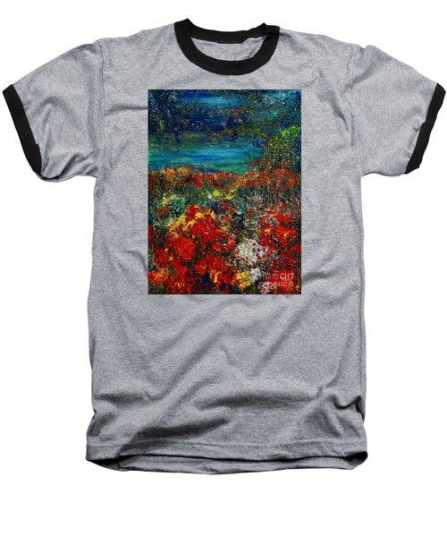 Secret Garden Baseball T-Shirt by Teresa Wegrzyn