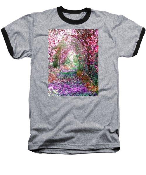 Secret Garden Baseball T-Shirt by Vicki Spindler