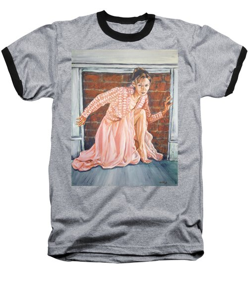 Baseball T-Shirt featuring the painting Secret Passage by Bryan Bustard