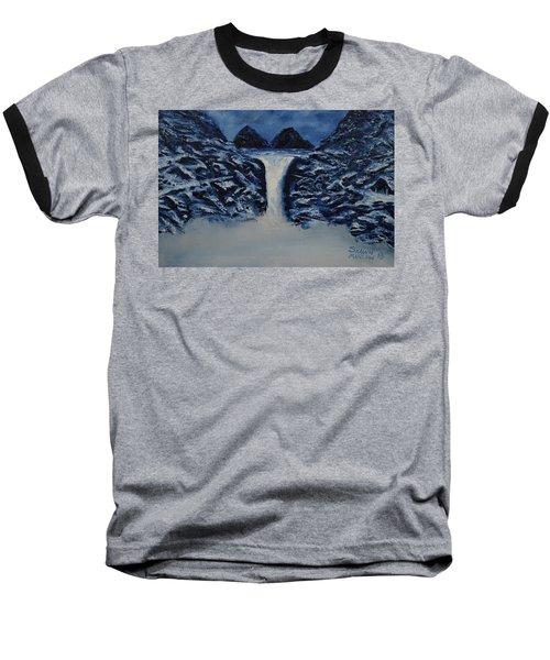 Baseball T-Shirt featuring the painting Secret Places by Shawn Marlow