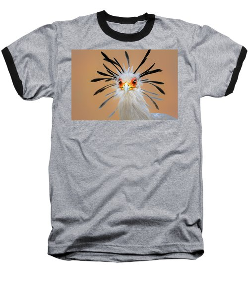 Secretary Bird Portrait Close-up Head Shot Baseball T-Shirt by Johan Swanepoel