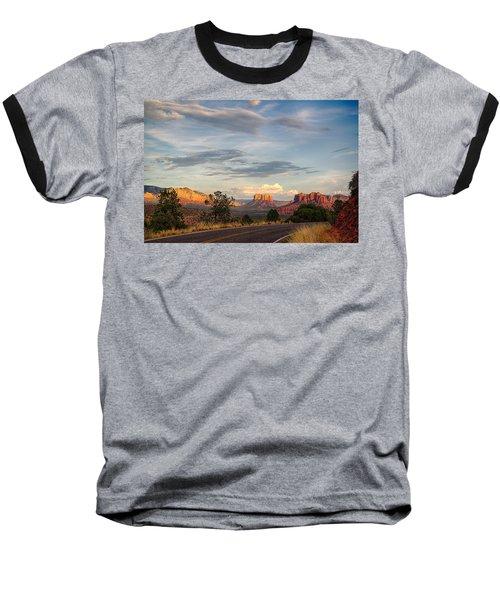 Sedona Arizona Allure Of The Red Rocks - American Desert Southwest Baseball T-Shirt