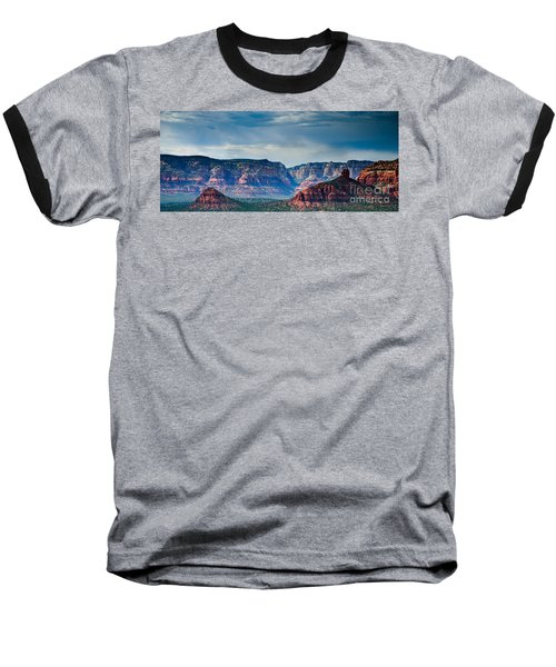 Sedona Arizona Panorama Baseball T-Shirt