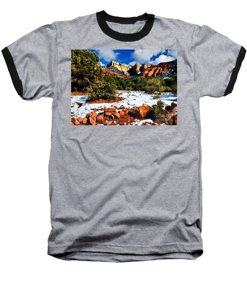 Baseball T-Shirt featuring the photograph Sedona Arizona - Wilderness by Bob and Nadine Johnston