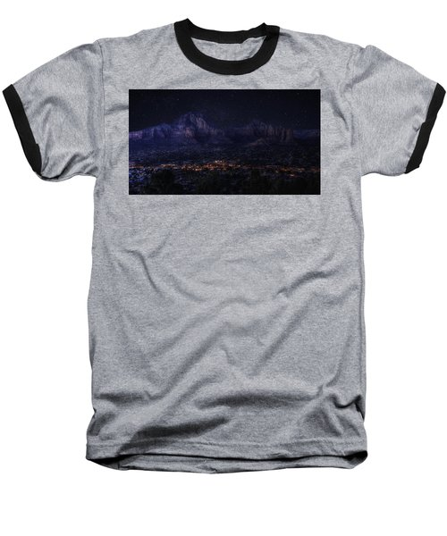 Baseball T-Shirt featuring the photograph Sedona By Night by Lynn Geoffroy