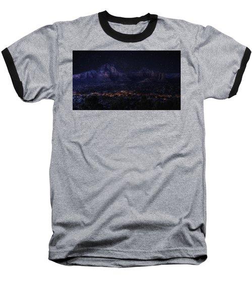 Sedona By Night Baseball T-Shirt