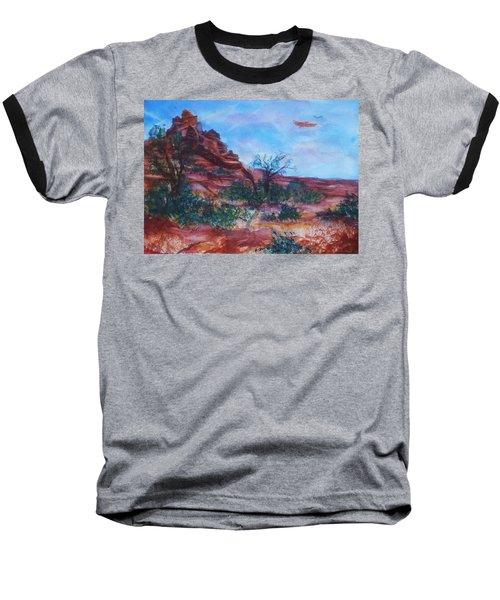 Sedona Red Rocks - Impression Of Bell Rock Baseball T-Shirt
