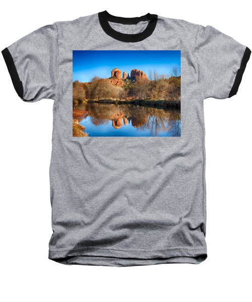 Sedona Winter Reflections Baseball T-Shirt