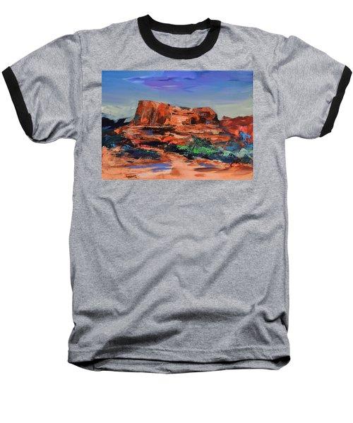 Courthouse Butte Rock - Sedona Baseball T-Shirt