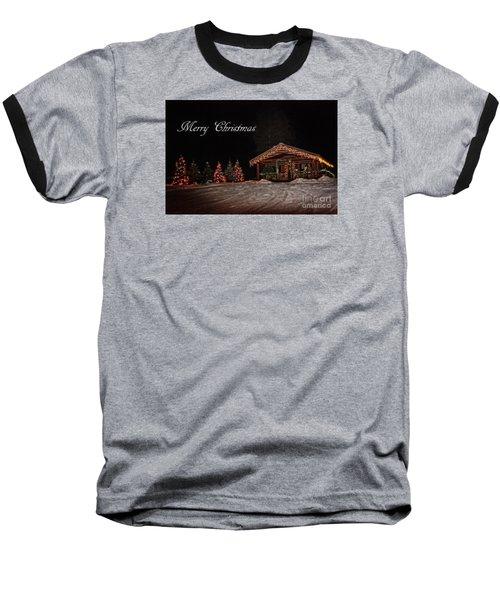 Baseball T-Shirt featuring the photograph Seeley Lake- Christmas Eve Montana Style by Janie Johnson