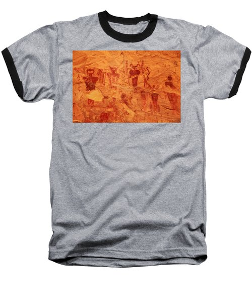 Sego Canyon Rock Art Baseball T-Shirt