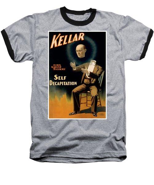Self Decapitation Baseball T-Shirt by Terry Reynoldson