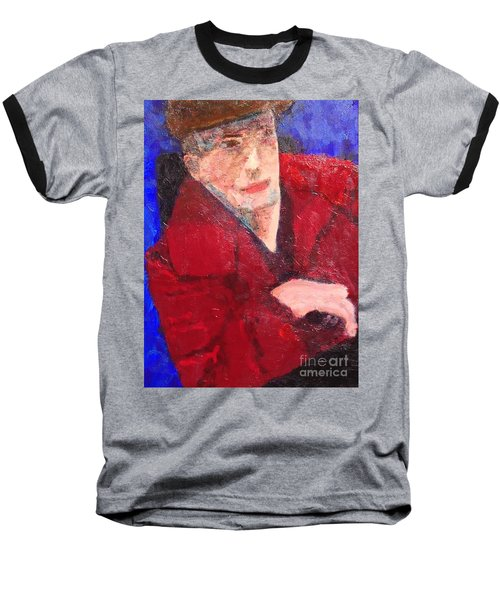 Baseball T-Shirt featuring the painting Self-portrait by Donald J Ryker III