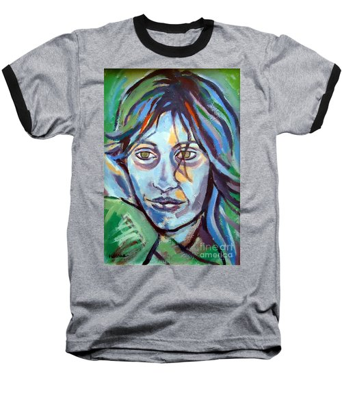 Baseball T-Shirt featuring the painting Self Portrait by Helena Wierzbicki