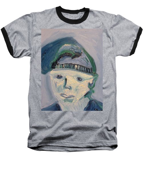 Self Portrait In Blue And Green Baseball T-Shirt