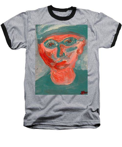 Self Portrait In Turquoise And Rose Baseball T-Shirt