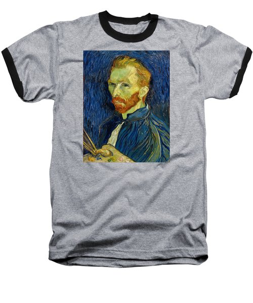 Self Portrait With Palette Baseball T-Shirt by Vincent Van Gogh