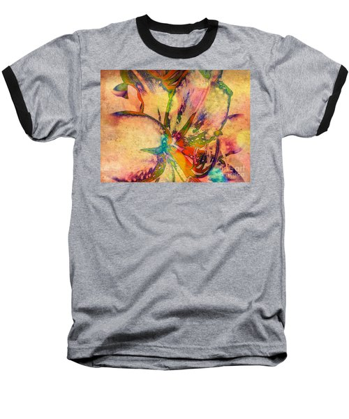 Springtime Floral Abstract Baseball T-Shirt