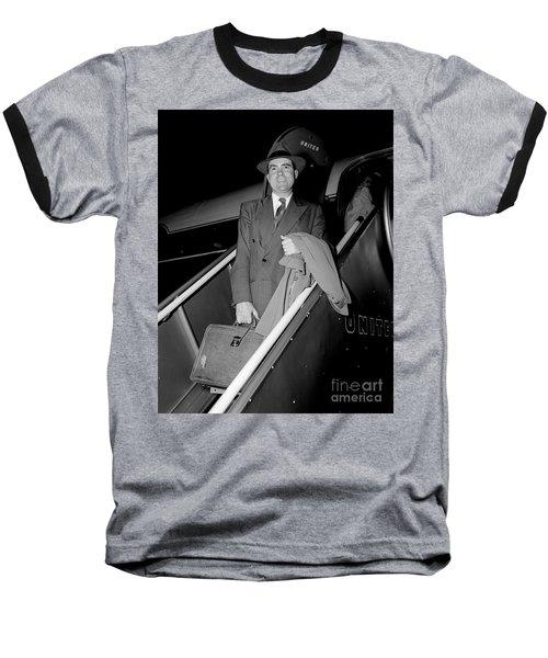 Baseball T-Shirt featuring the photograph Senator Nixon 1952 by Martin Konopacki Restoration