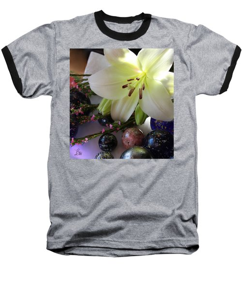 Baseball T-Shirt featuring the photograph Send The Light Lily With Marbles by Bonnie Willis