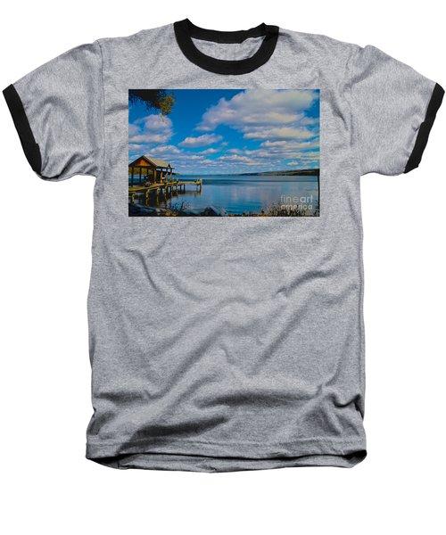 Seneca Lake At Glenora Point Baseball T-Shirt