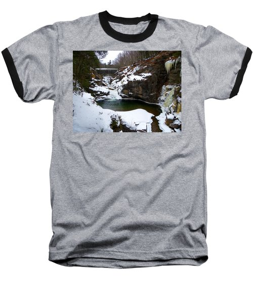 Sentinel Pine Bridge In Winter Baseball T-Shirt