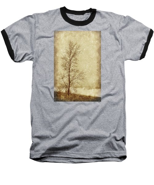 Sentinel Tree In Winter Baseball T-Shirt