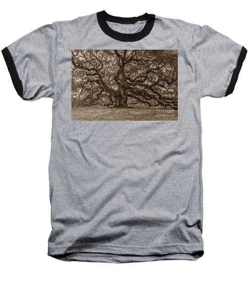 Sepia Angel Oak Baseball T-Shirt