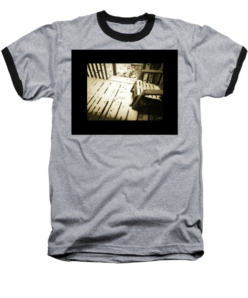 Baseball T-Shirt featuring the photograph Sepia - Nature Paws In The Snow by Absinthe Art By Michelle LeAnn Scott