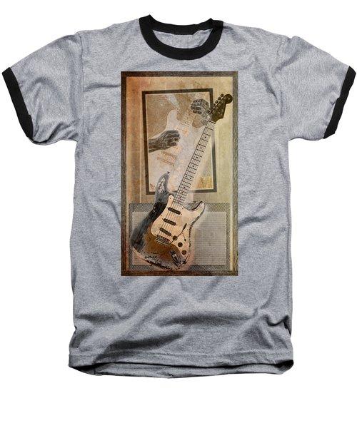 Baseball T-Shirt featuring the digital art Sepia Strat by WB Johnston
