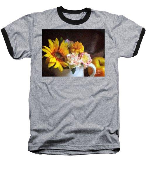 Baseball T-Shirt featuring the digital art September Still Life by Lianne Schneider