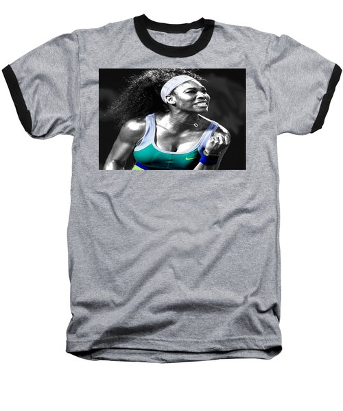Serena Williams Ace Baseball T-Shirt