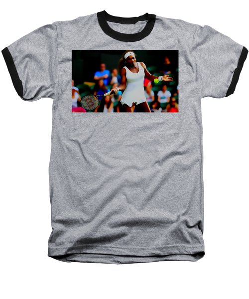 Serena Williams Making It Look Easy Baseball T-Shirt by Brian Reaves