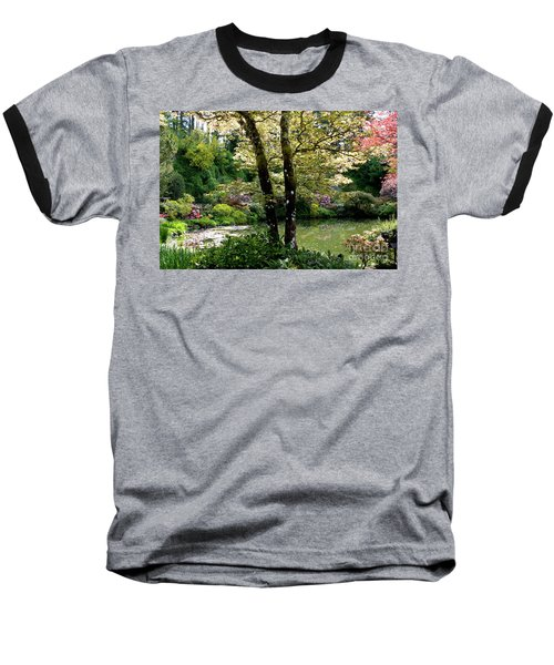 Serene Garden Retreat Baseball T-Shirt