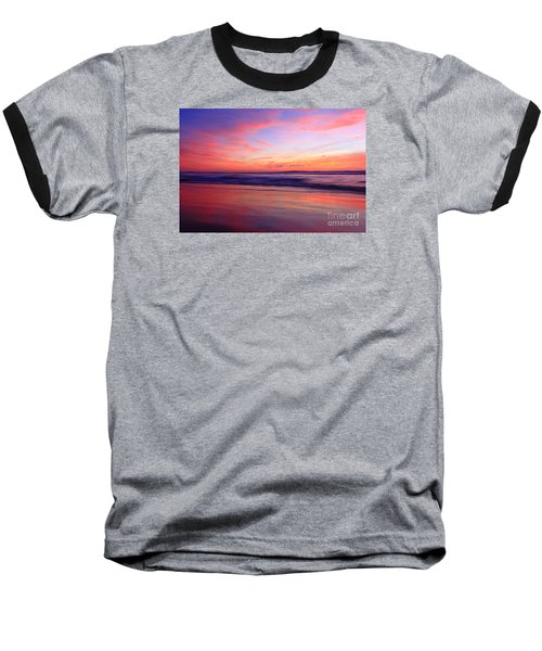 Serene Oceanside Glow Baseball T-Shirt