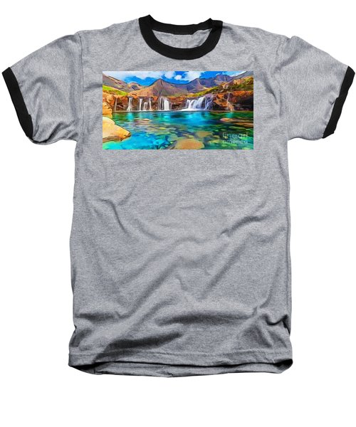Serene Green Waters Baseball T-Shirt by Catherine Lott