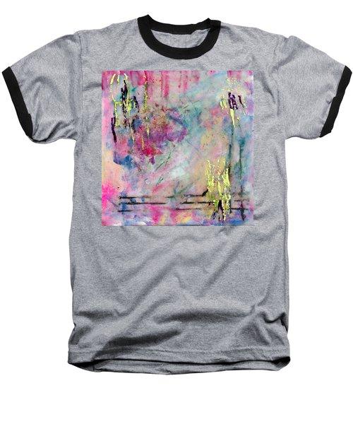 Serene Mist Encaustic Baseball T-Shirt