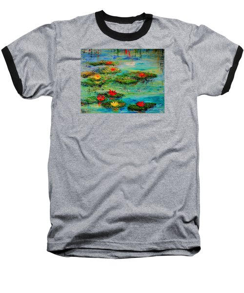 Serene Baseball T-Shirt by Teresa Wegrzyn