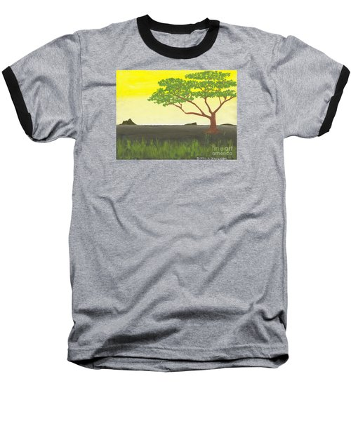 Baseball T-Shirt featuring the painting Serengeti by David Jackson