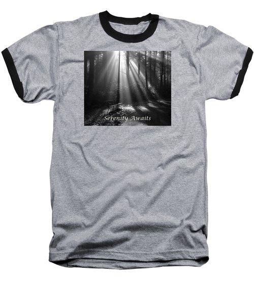 Serenity Awaits Baseball T-Shirt by Brian Chase