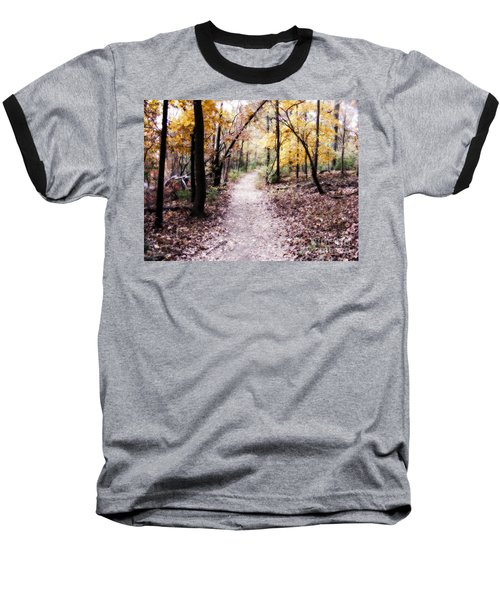 Baseball T-Shirt featuring the photograph Serenity Walk In The Woods by Peggy Franz