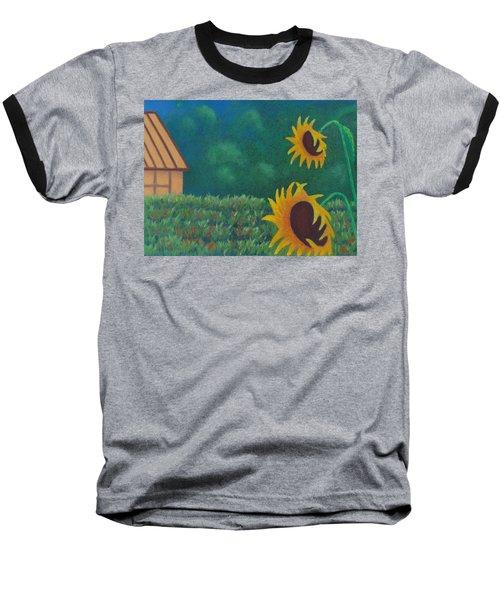 Sergi's Sunflowers Baseball T-Shirt