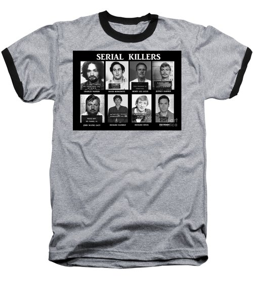 Serial Killers - Public Enemies Baseball T-Shirt