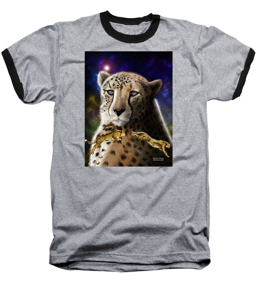 First In The Big Cat Series - Cheetah Baseball T-Shirt by Thomas J Herring